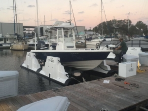 4000kg/9000lb Boat Lift Installed in Amelia Island, Florida